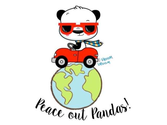 Peace out pandas car