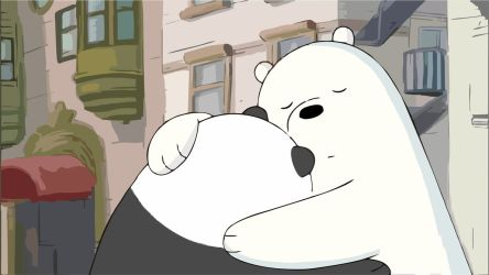 we_bare_bears_ice_bear_hugging_panda_by_zerfos-d9bjt88