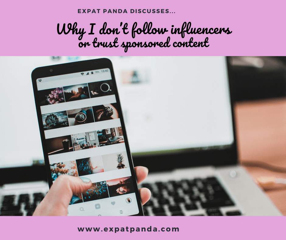 Why I don't follow influencers or trust sponsored content