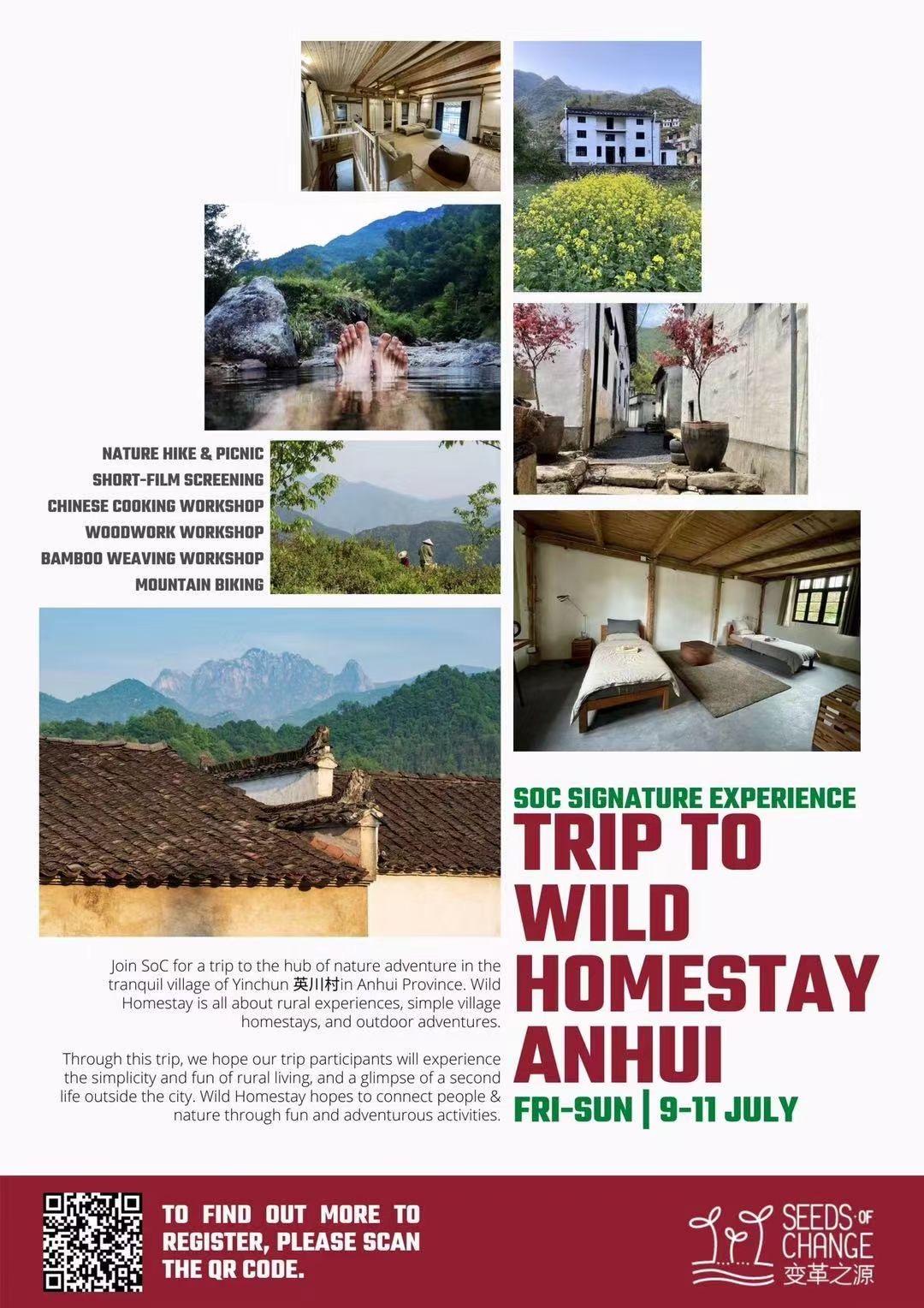 Trip to wild homestay anhui