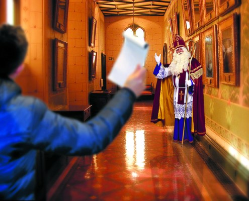 An interview with Sinterklaas (Photo: Rodi)