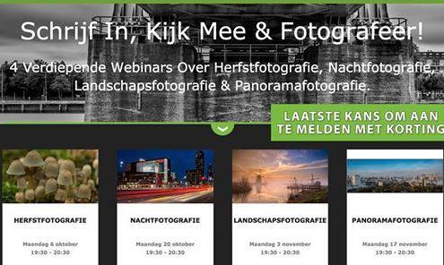 4 professionele Fotografie Webinars met speciale ledenkorting! (Photo: De Rooij Fotografie)