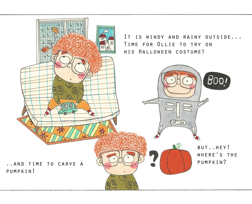 Ollie and the pumpkins_page1 (Illustration: Lisa Loffredo)