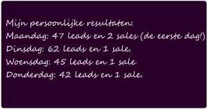 affiliate marketing resultaten