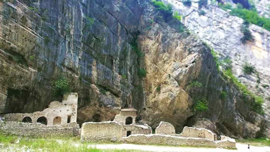 Schlucht und Abtei von Fara San Martino Majella Nationalpark Abruzzen