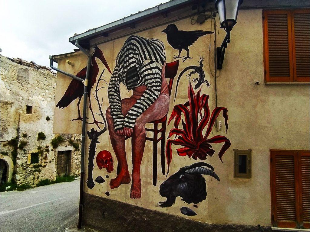 Aielli Abruzzen Streetart Murales Geheimtipp Dorf