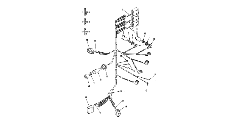 0101 00-2 Figure 100. Hull or Chassis Wiring Harness