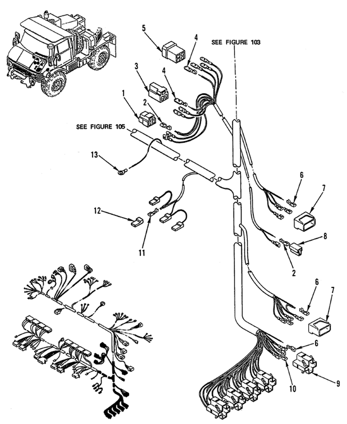 00 2 Figure 104 Hull Or Chassis Wiring Harness