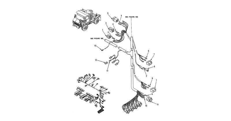 0105 00-2 Figure 104. Hull or Chassis Wiring Harness