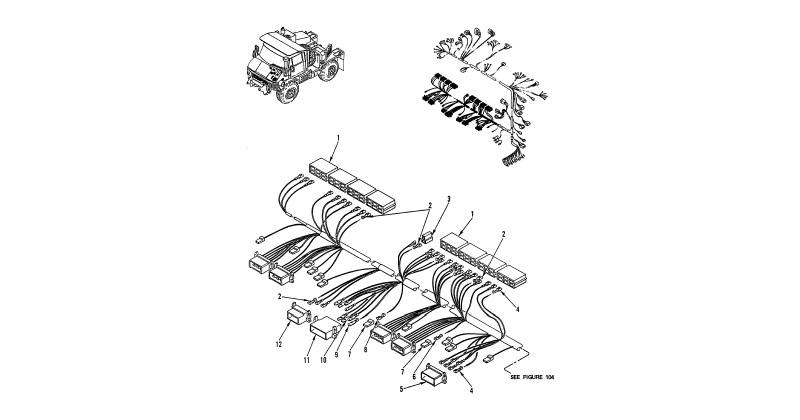 0106 00-2 Figure 105. Hull or Chassis Wiring Harness