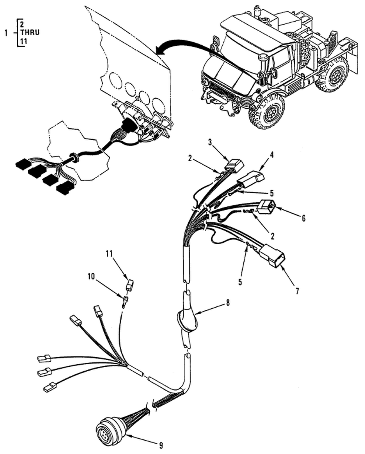 0108 00-2 Figure 107. Hull or Chassis Wiring Harness