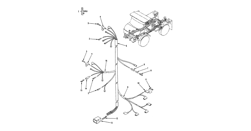 0109 00-2 Figure 108. Hull or Chassis Wiring Harness
