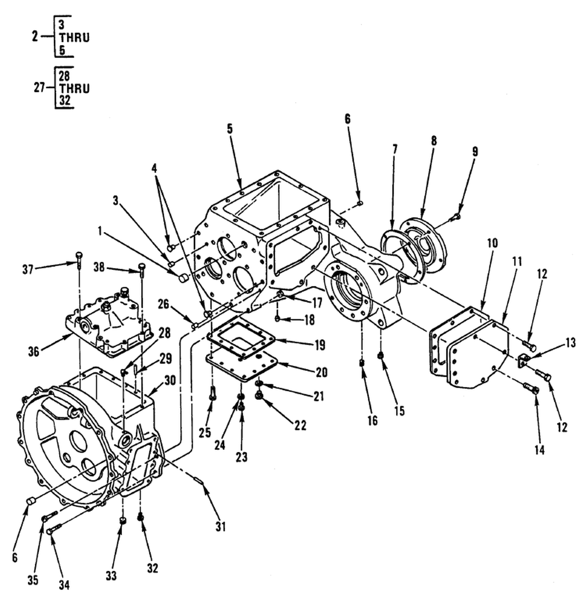 0112 00-2 Figure 111. Transmission Assembly (Main and/or Sec
