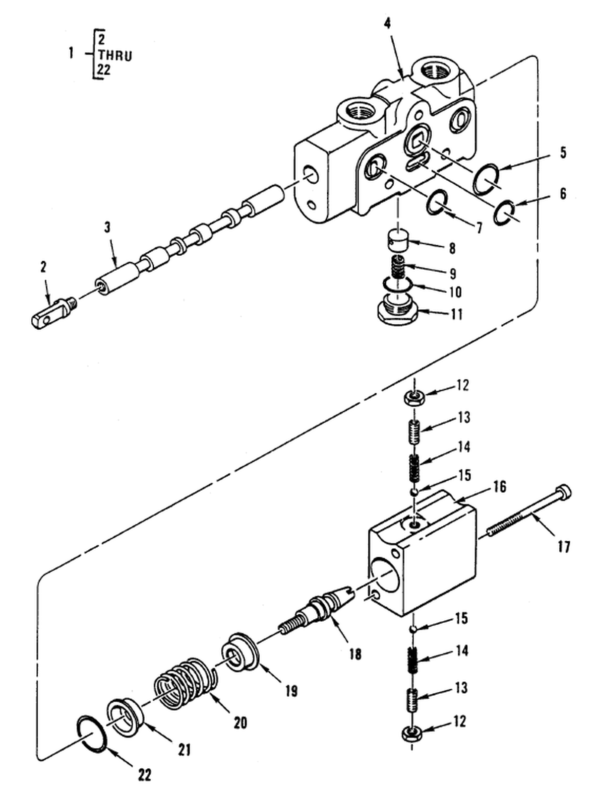 hight resolution of hydraulic control valve boom control section valve