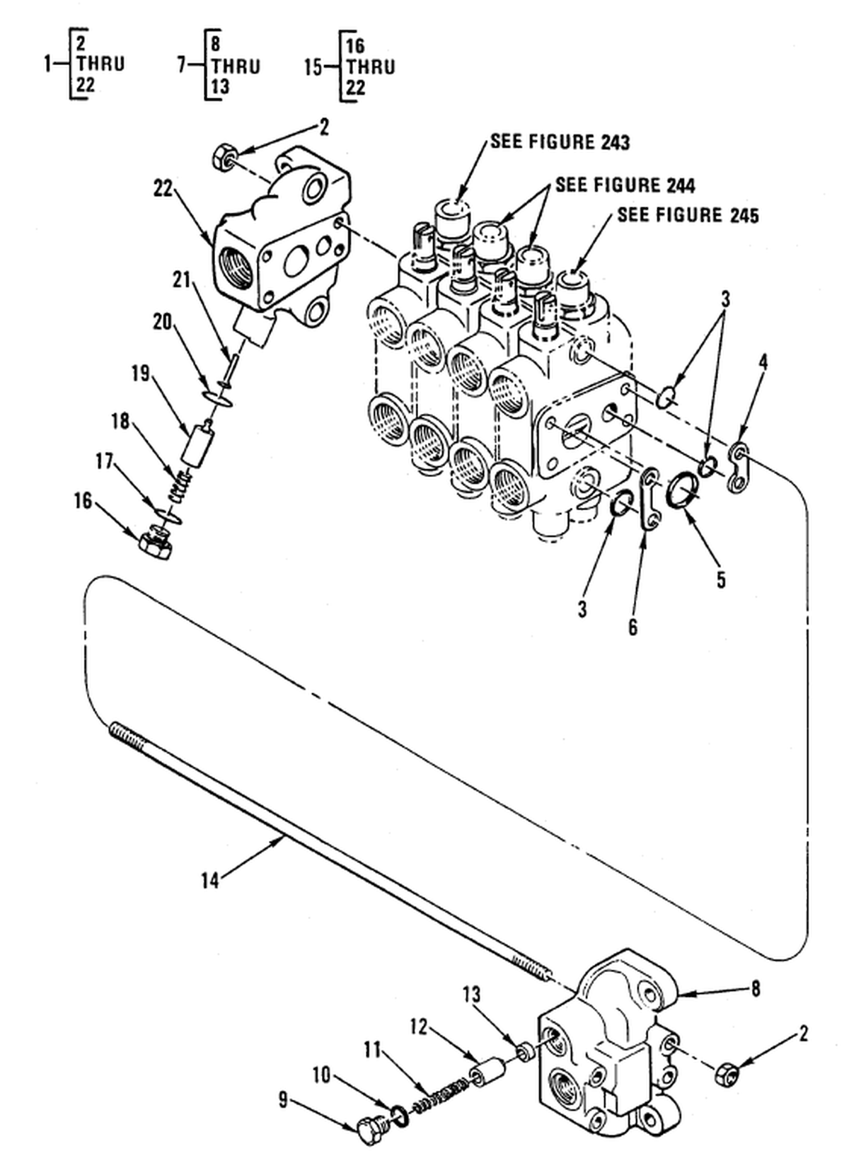 00 2 Figure 242 Hydraulic Control Valve Backhoe