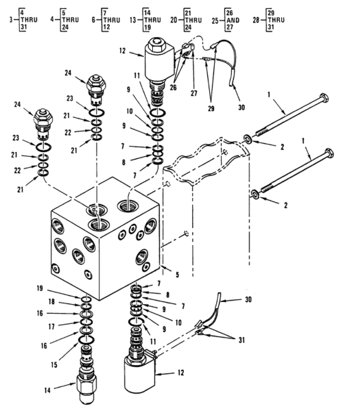small resolution of hydraulic control valve forklift valve