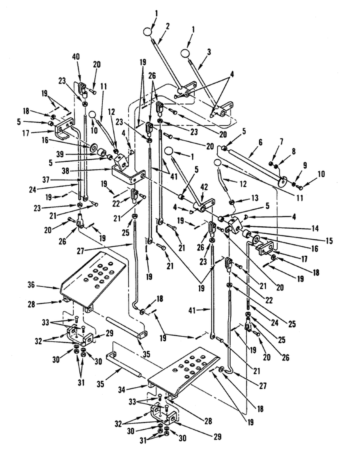 00 2 Figure 255 Hydraulic Control Levers And Linkage