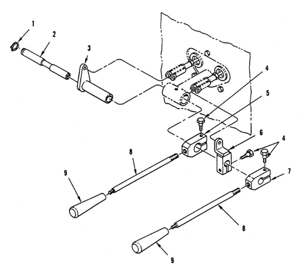 medium resolution of hydraulic control levers and linkage front loader forklift control valve lever controls see