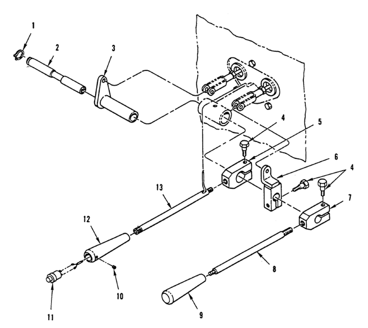 00 2 Figure 257 Hydraulic Control Levers And Linkage