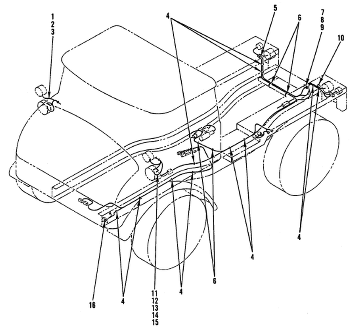 0085 00-2 Figure 84. Hull or Chassis Wiring Harness