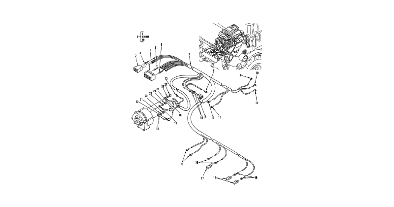 0086 00-2 Figure 85. Hull or Chassis Wiring Harness