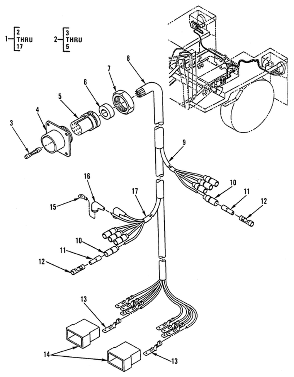 medium resolution of hull or chassis wiring harness trailer wiring harness and receptacle connector