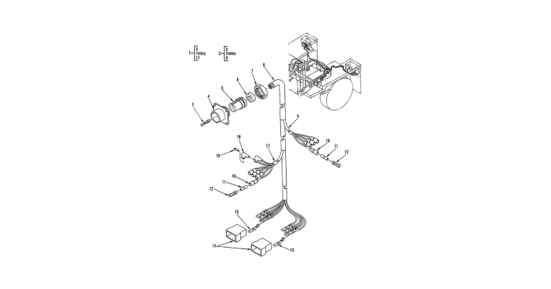 0088 00-2 Figure 87. Hull or Chassis Wiring Harness