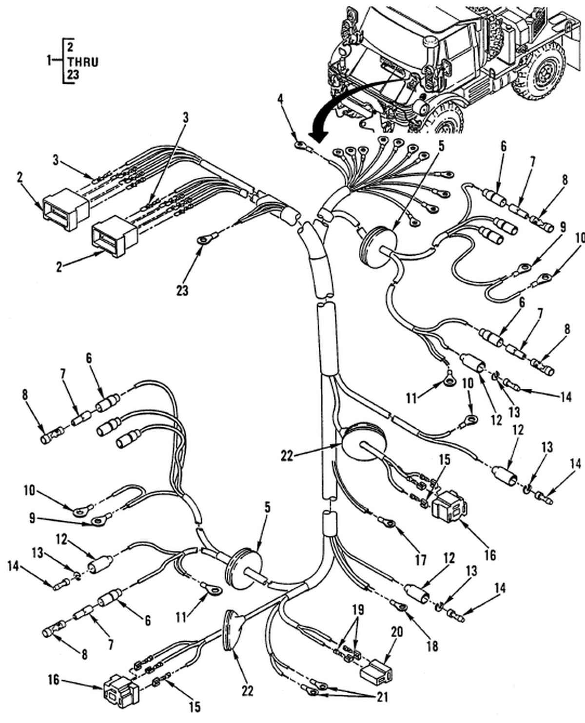 00 2 Figure 88 Hull Or Chassis Wiring Harness
