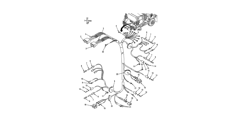 0089 00-2 Figure 88. Hull or Chassis Wiring Harness