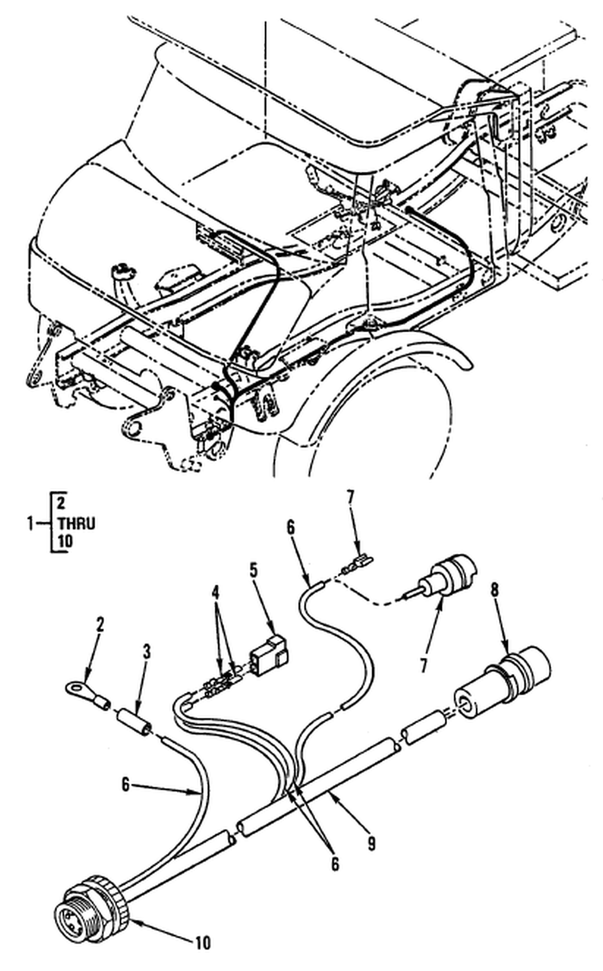 hight resolution of hull or chassis wiring harness forklift wiring harness 5 pin