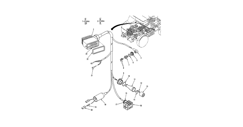 0097 00-2 Figure 96. Hull or Chassis Wiring Harness