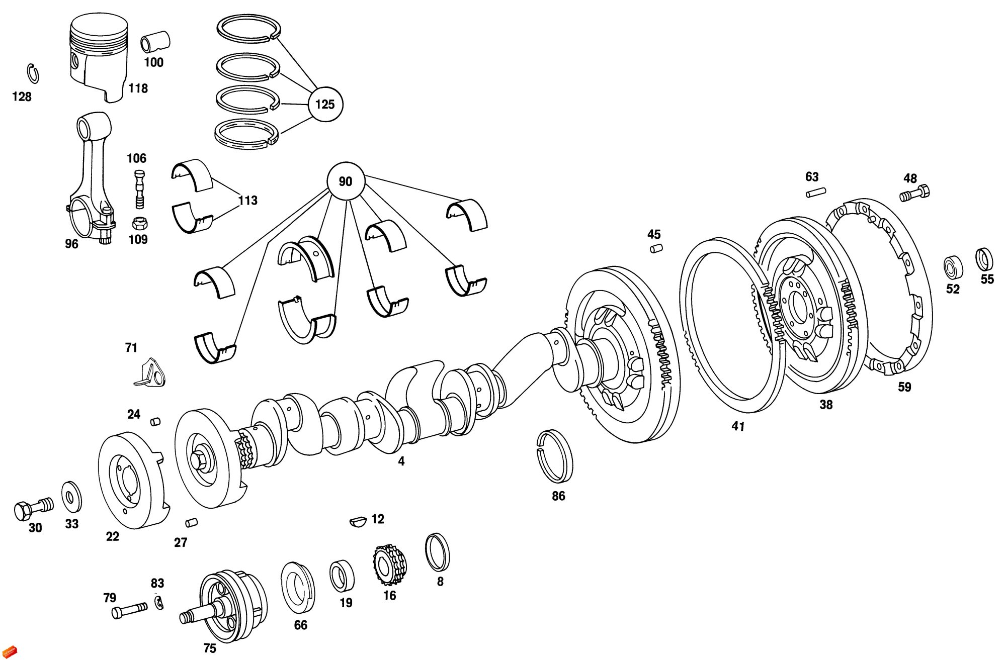 hight resolution of home unimog parts 404 engine crankshaft assembly