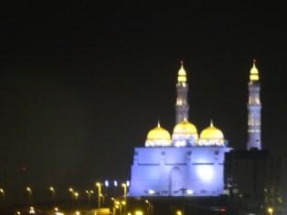 Al Ameen Moschee von Muscat bei Nacht