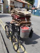 Altpapier-Transport