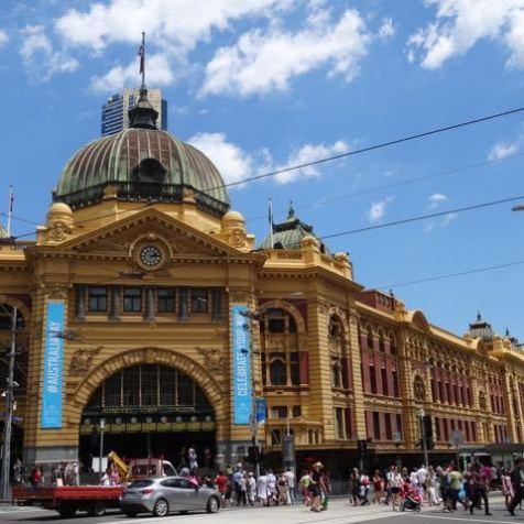 der Hauptbahnhof von Melbourne