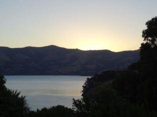 Sonnenuntergang vom Campingplatz