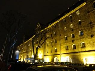 schön beleuchtete Häuser