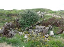 zusammengebrochene Bunker
