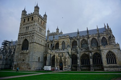 Kathedrale von Exeter im Vollbild