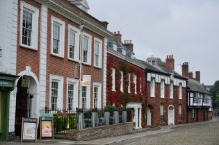 Backsteinhäuser in Exeter
