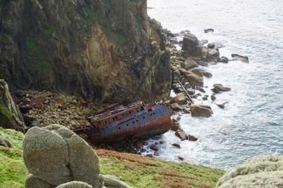 Schiffswrack bei Land's End