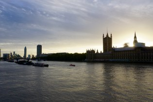 London bei Sonnenuntergang
