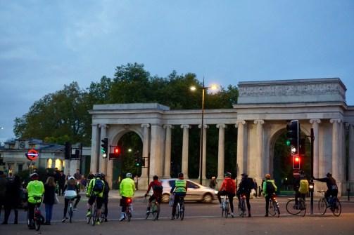 Radfahrer in London