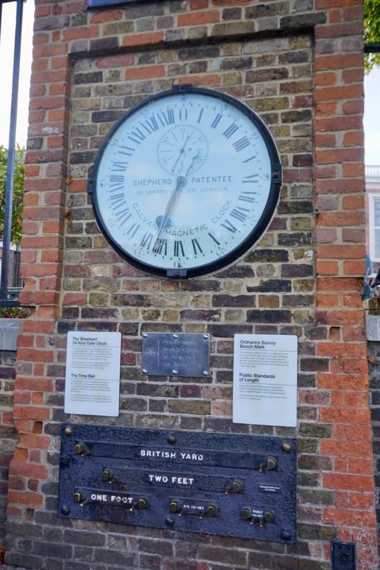 Nullmeridian in Greenwich