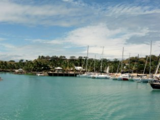 Blick auf den Hafen