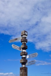 Entfernungs-Schild