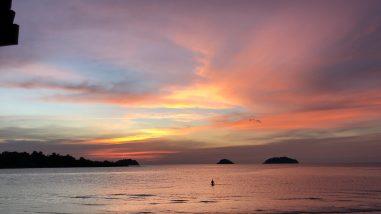 Ein traumhafter Sonnenuntergang in Thailand