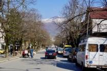 Typische Straße in Nord-Albanien