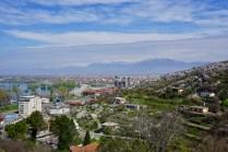 Albanien mit Bergen und See