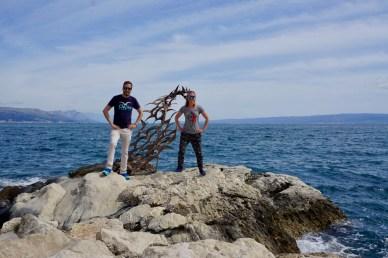 Raues Wasser in Kroatien